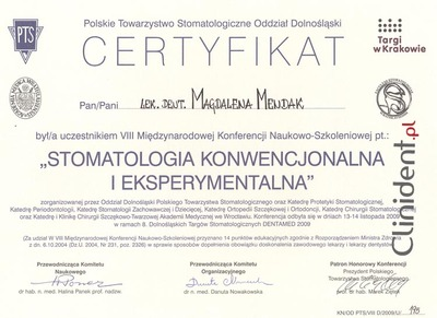 doctor of periodontology Wroclaw